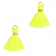 Quaste Perlen 1.5cm Gold-neon yellow