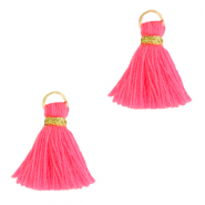 Quaste Perlen 1.5cm Gold-hot pink