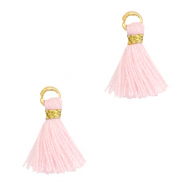 Quaste Perlen 1cm Gold-light pink