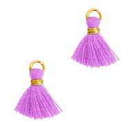 Quaste Perlen 1cm Gold-light purple