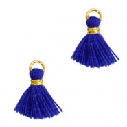 Quaste Perlen 1cm Gold-princess blue