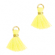 Quaste Perlen 1cm Gold-sunshine yellow