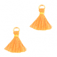 Quaste Perlen 1cm Gold-paradise orange