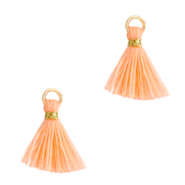 Quaste Perlen 1cm Gold-bright peach