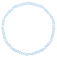 Facetten Glas Armband 3x2mm Ice blue-pearl shine coating