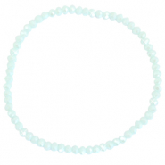 Facetten Glas Armband 3x2mm Clearwater blue-pearl shine coating