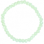 Facetten Glas Armband 6x4mm Paradise green-pearl shine coating