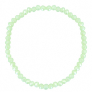 Facetten Glas Armband 4x3mm Paradise green-pearl shine coating