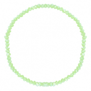Facetten Glas Armband 3x2mm Dark paradise green-pearl shine coating