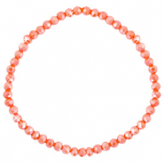 Facetten Glas Armband 4x3mm Spicy orange-pearl shine coating