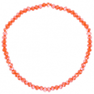 Facetten Glas Armband 3x2mm Spicy orange-pearl shine coating