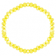 Facetten Glas Armband 6x4mm Blazing yellow-pearl shine coating