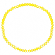 Facetten Glas Armband 3x2mm Blazing yellow-pearl shine coating