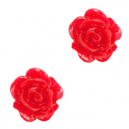 Perlen Rosen 10mm Lollipop red
