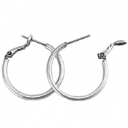 DQ Ohrringe Ø 20mm antik silver plated