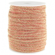 Wire Fashion 5 mm flach Rouge red-gold
