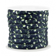 Trendy Kordel 6x4mm gesteppt Dark blue