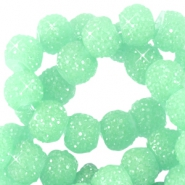 Sparkle beads 6mm Crysolite green