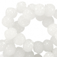 Sparkle beads 6mm Weiss