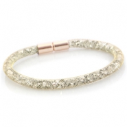 Kristall Facett Armband single Gold - silver crystal