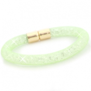 Kristall Facett Armband Crysolite green - crystal