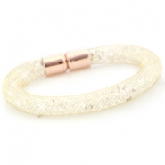 Kristall Facett Armband Gold - crystal