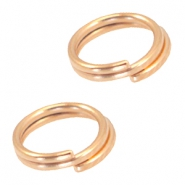 Metall DQ Spaltring/Doppelring 7mm Ø5.7mm Rosegold (nickelfrei)