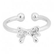 Trendy Ring Fliege Silber