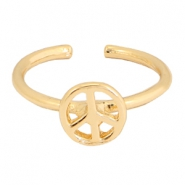 Trendy Ring Peace Gold