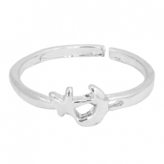 Trendy Ring Stern&Mond Silber