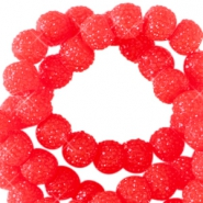Sparkle beads 6mm Candy red