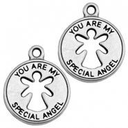 "Anhänger Metall DQ ""you are my special angel"" Antik silber (nickelfrei)"