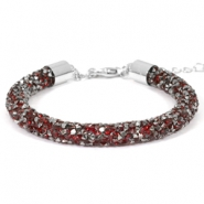 Armband Crystal diamond 7mm Siam red-anthracite