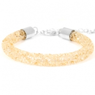 Armband Crystal diamond 8mm Bisque beige