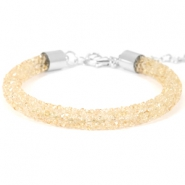 Armband Crystal diamond 7mm Bisque beige