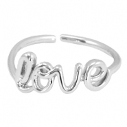 Trendy Ring 'Love' Silber