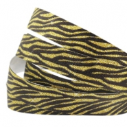 Tape aus Crystal Glitzer animal print 10mm Black-gold