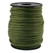 Trendy kordel rund Paracord 4 mm Army green