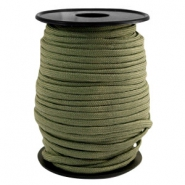 Trendy kordel rund Paracord 4 mm Light army green