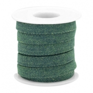 Trendy Kordel Denim 10mm flach Dark emerald green
