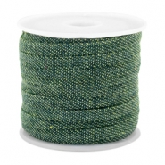 Trendy Kordel Denim 5mm flach Dark green