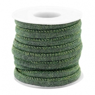 Trendy Kordel Denim 6x4mm gesteppt Dark green