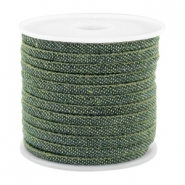 Trendy Kordel Denim 4x3mm gesteppt Dark green