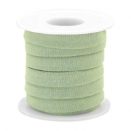 Trendy Kordel Denim 10mm flach Light green