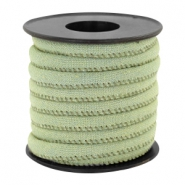 Trendy Kordel Denim 6x4mm gesteppt Light green