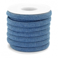 Trendy Kordel Denim 6x4mm gesteppt Regular blue