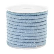Trendy Kordel Denim 4x3mm gesteppt Light blue