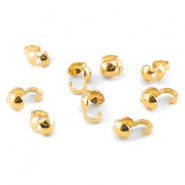 Kalotte 4mm DQ gold plated