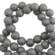 Perlen hematite rund 6mm Matt Anthracite grey