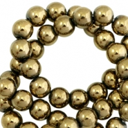 Perlen hematite rund 4mm Antique gold